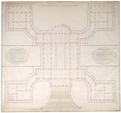 Plan of the basement storey of the New Government House, Calcutta